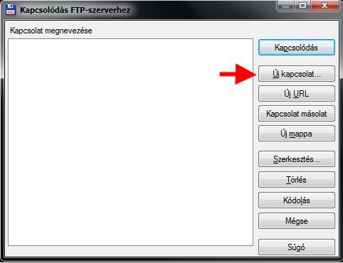 Kapcsolódás FTP szerverhez